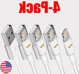4 Pack Lightning USB Charger Cable For Original Genuine OEM