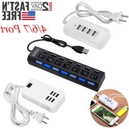 4 6 7 12 Port Multi-Port USB Travel Charger Desktop USB Hub