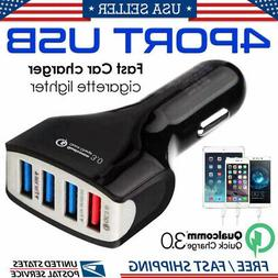 4-Port USB 4.2A Fast Quick Charger Car Charging Adapter Plug