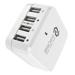 Syncwire 4-Port USB Wall Charger, 34W/6.8A Multi-Port Travel