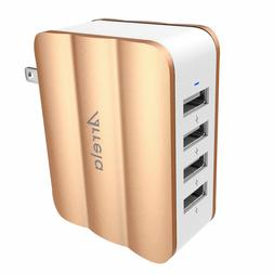 4 Ports USB Wall Charger Adapter Arrela 30W/6A Travel Fast C