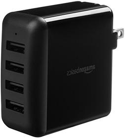 AmazonBasics 40W 4-Port USB Wall Charger - Black