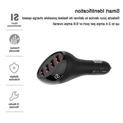 4port usb car charger 50w 10a charger
