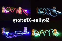 4x 3ft LED Lightning USB Charger Cable Cord For iPhone XS XR