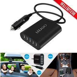 5 port usb car charger adapter fast
