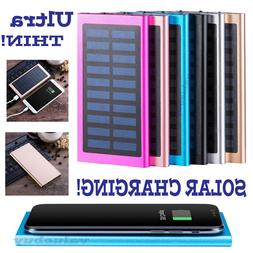 900000mAh Slim 2 USB Portable Battery Charger Solar Power Ba