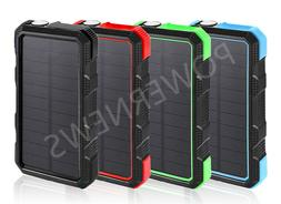 900000mAh Waterproof Dual USB Portable Solar Battery Charger