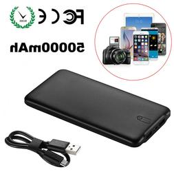 50000mAh Quick Power Bank Portable Dual USB Battery Charger