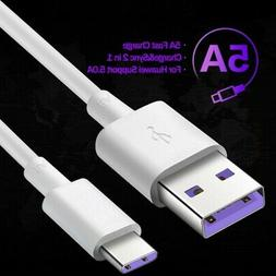 5A TYPE C Cable USB-C Fast Charger Charging Data Sync Lead f