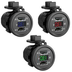 5V 2.1A Waterproof Dual Ports <font><b>USB</b></font> <font>