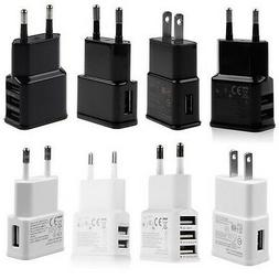 5V 2A 1/2/3-Port USB Wall Adapter Charger US/EU Plug For Sam
