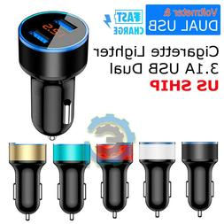 3 1a usb dual ports car cigarette
