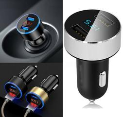 5V/3.1A Dual USB Port Car Charger Quick Charge Adapter LED f