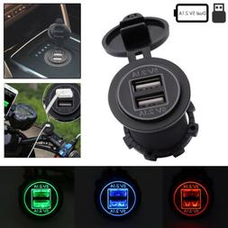 5V 4.2A Dual USB Charger Socket Power Outlet Adapter For Car