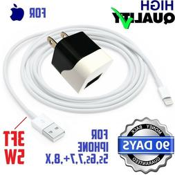 5W 5V 1A USB Wall Charger White/Black Cube With cable For Ip