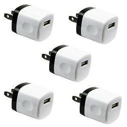5x 1A USB Wall Charger Plug AC Home Power Adapter FOR Phone
