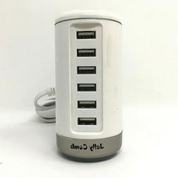 Jelly Comb 6 Port USB Desktop Charger White ICH-14