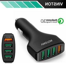 SUPER FAST 7.5A QC3.0 Vinston USB Car Charger For iPhone X 8