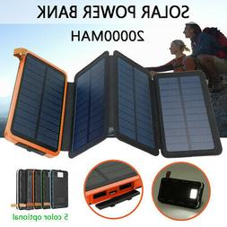7W Foldable Portable Solar Power Bank Panel 2 USB Charger Ba