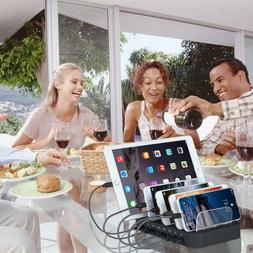 8 Port USB Charging Station - Fast Charge Multi Phones Table