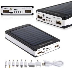 80000mAh Dual USB Solar Battery Charger Power Bank For Cell