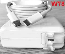 87W USB C Power Adapter PD QC 3.0 Fast Wall Charger For MacB
