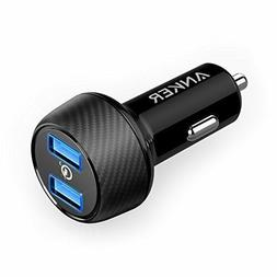 Anker 39W Dual USB Car Charger with Quick Charge 3.0, PowerD