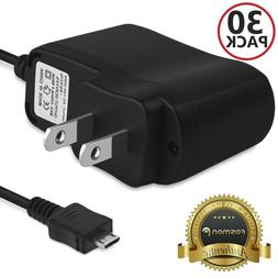 Fosmon 30X Travel AC Wall Micro USB 800w Cable Charger Charg