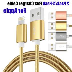 Heavy Duty Braided Lightning USB Charger Cable Cord For iPho