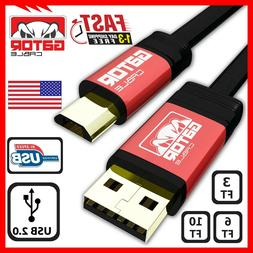 Micro USB 2.0 Cable Cord Charger Sync Data For Samsung S4 S6