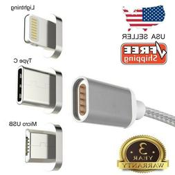 Micro USB Port Magnetic Adapter Charger For iPhone IOS Andro