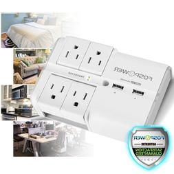 Multi 3 Outlet 3 USB Port Wall Tap Surge Protector Adapter C