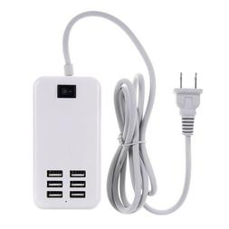 Multiple 6 Port USB Travel Wall Charger Power Adapter For iP