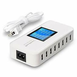 Multiple USB Charger, 60W/12A 8-Port Desktop Charger Chargin