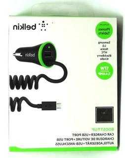 New BELKIN Boost Up Universal Car Charger + USB Port micro U
