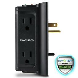 4 Outlet Safety Surge Protector Compact Portable Plug Wall