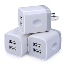 USB Wall Charger,Charging Adapter Embink 3-Pack 2.1A Dual Po