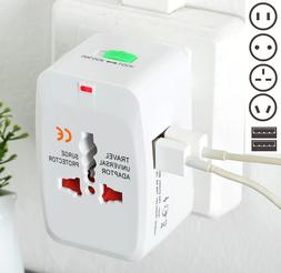 Universal Travel Adapter Wall Charger AU UK US EU AC Power P