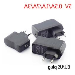 AC DC 5V 0.5A/1A/2A/3A Power Adapter supply Charger USB Port