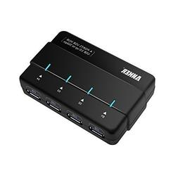 Anker 4-Port USB 3.0 Data Hub with 24W Power Adapter and 3ft