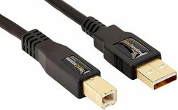 AmazonBasics USB 2.0 Cable - A-Male to B-Male - 16 Feet