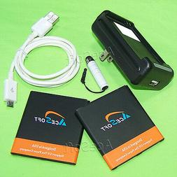 AceSoft Battery Charger USB Cable Stylus for Samsung Galaxy