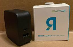 RAVPower Black USB1 USBC 1 Ports Wall Charger 61W Type C PD