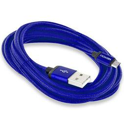 PROWORX Blue 10ft Long USB Charger Cable for Sony Playstatio