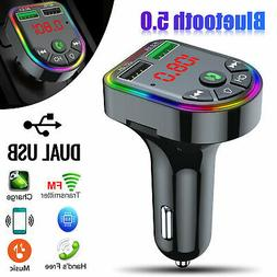 Wireless In-Car Bluetoot FM Transmitter MP3 Radio Adapter Ca