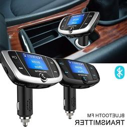 Bluetooth Car Kit USB Charger MP3 Player FM Transmitter Wire