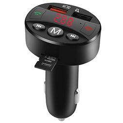 Bluetooth FM Transmitter for Car, VIKASI Wireless in-Car Rad