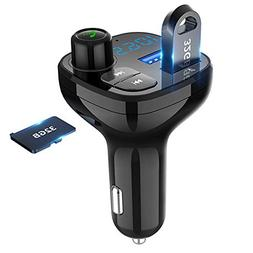 Bluetooth FM Transmitter for Car, BEITESI Wireless in-Car Ra