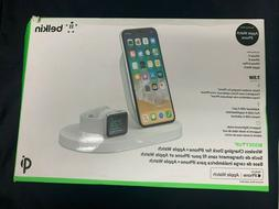 Belkin Boost Up Dual QI Wireless White Charging Dock for iPh