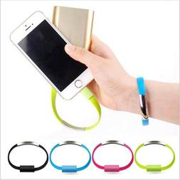 US Bracelet Flat Wire USB Charger Cable Charging Data Cord F